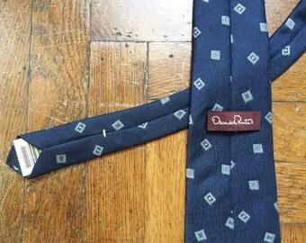 vintage oscar de la renta silk tie