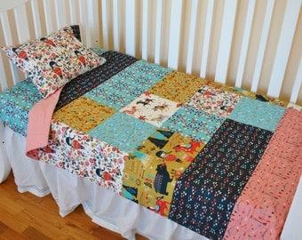Organic Crib Bedding Set, Organic Baby Bedding Set, Toddler Bedding Set, Organic, Teepees, Horses, Arrows