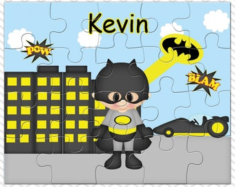 Batman Personalized Puzzle, Personalized Batman Puzzle, Personalized Kids Puzzle