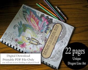 Dragon Colouring Book (Digital Download)