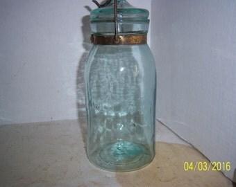 1890's GLOBE QUART Fruit  Canning jar Wedding  Shower display centerpiece