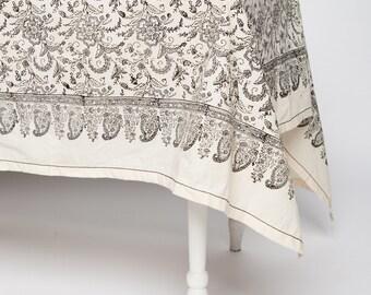 Block Print Tablecloth Ivy Slate