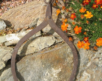 Large Antique Cast Iron Ice Tongs