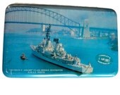 Vintage 1960's Tin Box - Toffee / Candy Tin - Australian War Ship  - Vintage Gift Box / Storage, Hoadley's Chocolates