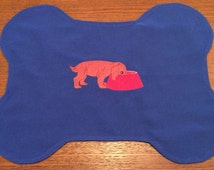 Dog, Puppy  Placemat/Feeding Mat - Embroidered- Handmade