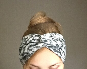 winter turban headband ear warmer turband headwrap with twisted center warm headband winter head accessory headwear christmas gift for her