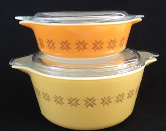 Casserole  Town and Country Pyrex Set - Vintage Pyrex