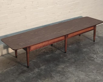 Long Mid-Century Modern Coffee / Cocktail Table / Tv Stand -  Mad Men / Eames Era Decor * SHIPPING NOT INCLUDED *