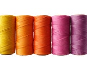 Micro Macrame Cord* Waxed Polyester Linhasita - Beading Thread - Set of 5 Colors - 10 meters each color - Sunset