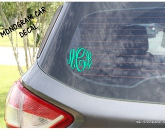 Vinyl Decal - Indoor Outdoor High Quality Monogram Custom Personalized Sticker Decal for Car Cups Windows Gifts Yeti