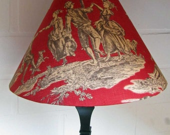 Lampshade toile de Jouy - Red