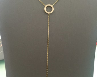 Eternity Lariat Necklace-Yellow Gold