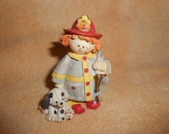 1993 Enesco Fireman Figurine-Old Store Stock