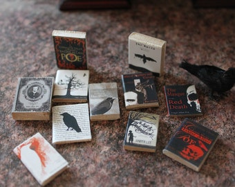 Dollhouse miniature 11 books of EDGAR ALLAN POE