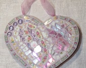 Mosaic Floral Heart                     Heart 4 Love, Love Home Decor, Pink Heart, Mosaic Heart, I Love You Gift, Gift of Love, Heart Decor
