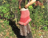 CottonCandy~Upcycled Sweater Skirt!  Knit Wool