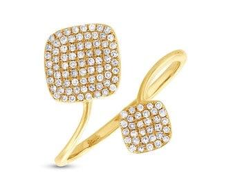 14k Yellow Gold Diamond Lady's Ring