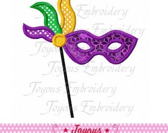 Instant Download Mardi Gras Mask Applique Embroidery Design NO:1899