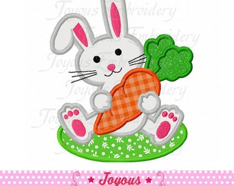 Instant Download Easter Bunny with Carrot Applique Machine Embroidery Design NO:1962