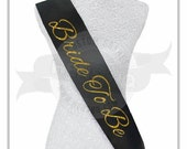 Glitter cursive Bride To Be sash - Your choice of color!