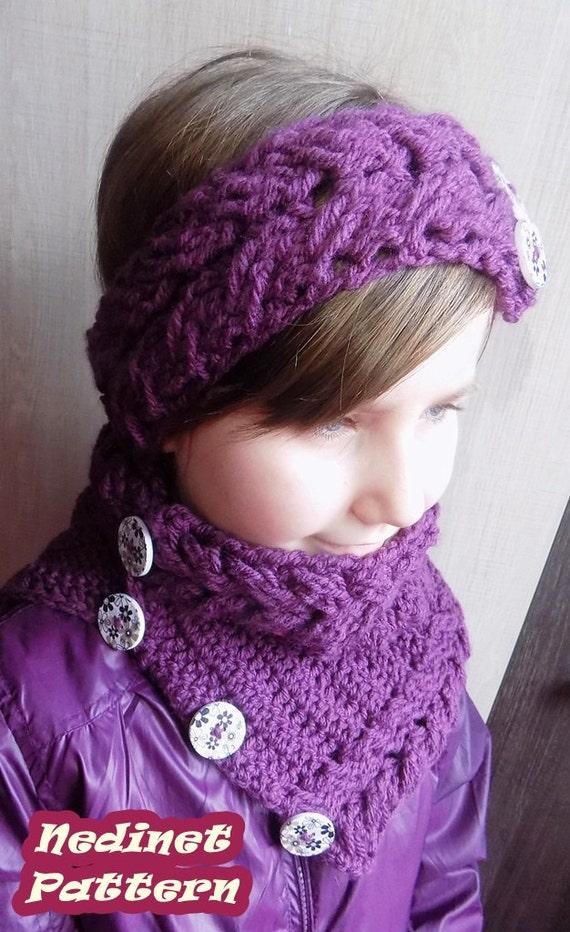 Crochet Headband Pattern Cable : Crochet pattern Cable stitch Crochet Headband pattern Cowl