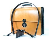 London Tan Bridle Leather Briefcase with a Calf Leather Lining
