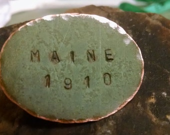 Maine State House Copper Large Oval Pin Limited Edition RM