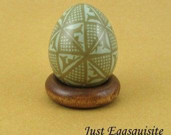 Pysanky Pisanki Ukrainian Polish Easter Egg Pieter's Deer Hand Decorated Etched Pheasant Egg