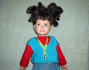 """Vintage 20"""" Cloth and Vinyl Punky Brewster Doll"""