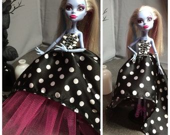 Polka Dot High Low Dress for your Monster High Doll - Monster High Doll Clothes