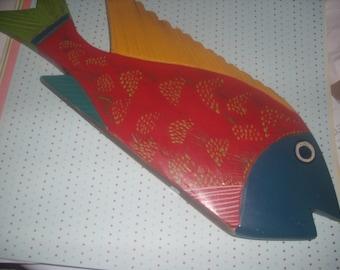 Vintage Colorful Fish Decor