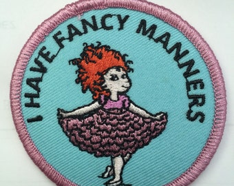 """Fancy Nancy """"I have fancy Manners"""" patch program"""