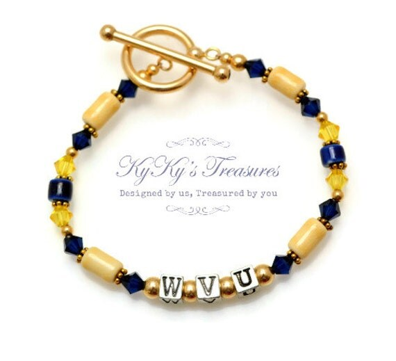 West Virginia University Wvu Jewelry Wvu Bracelet Sport