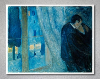 The Kiss by Edvard Munch, 1892 - Poster Paper, Sticker or Canvas Print