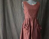 Picnic / Sleeveless Dress /  Summer Dresses for Women / Dresses for Women / Cute Dresses / Vintage Dresses for Women / Retro Dress / Pockets