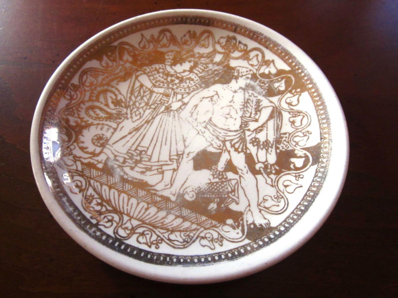 vintage piero fornasetti bonwit teller porcelain coaster. Black Bedroom Furniture Sets. Home Design Ideas