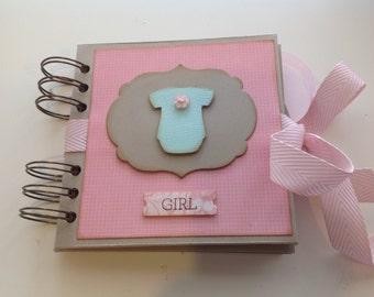"Baby Girl Mini Album 4.5"" x 4.5"" inches"