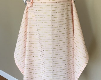 Arrows Nursing Cover - pink and gold arrows breastfeeding cover pink arrows hooter hider with a fabric flower clippie - Ready to ship