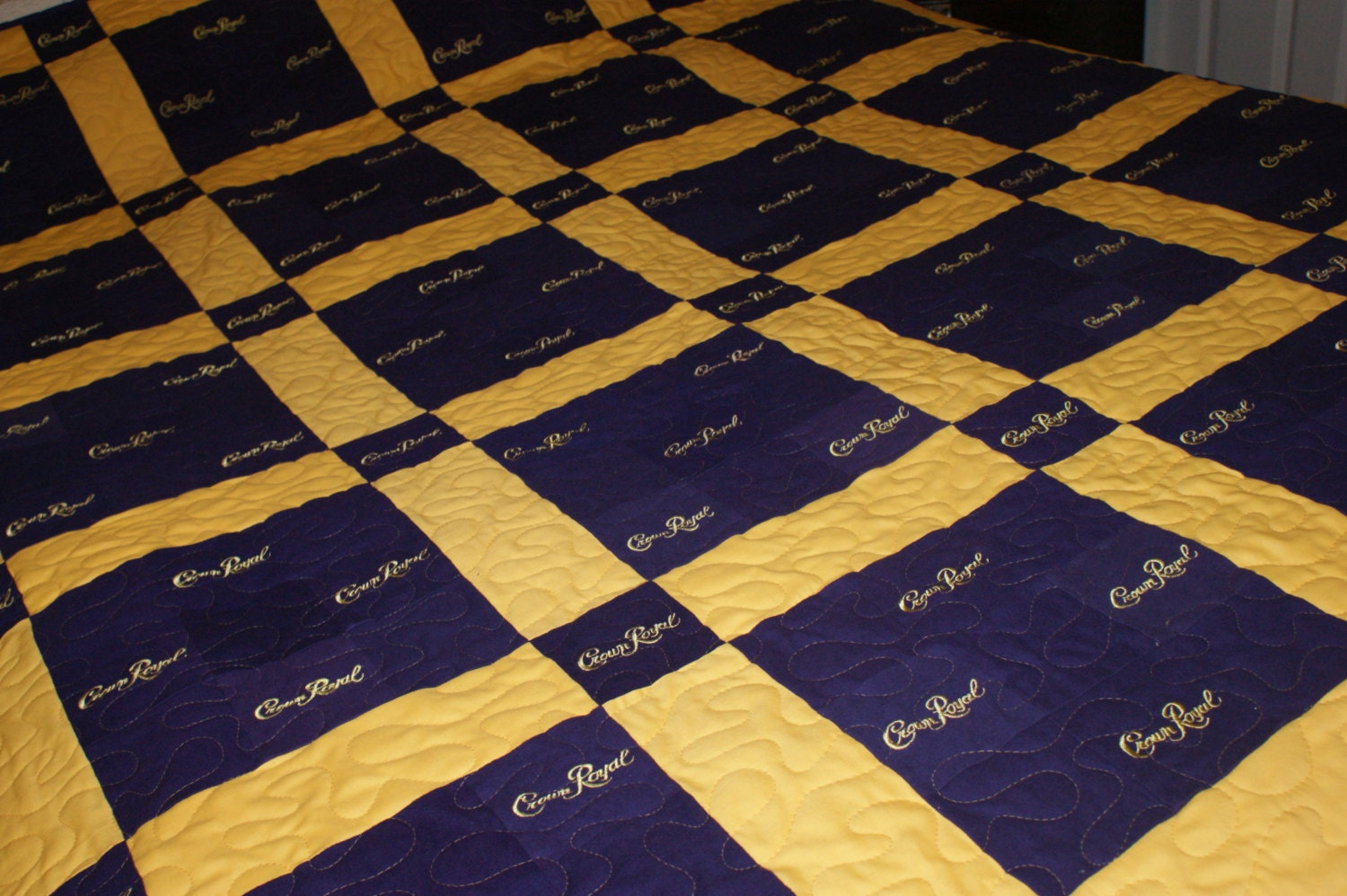 Quilt Patterns For A Man : Crown Royal Quilt Custom Made to Order Quilts for Guys Lap