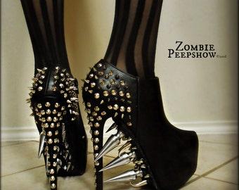 """Stiletto """"Riot"""" Platform Spike Boots"""
