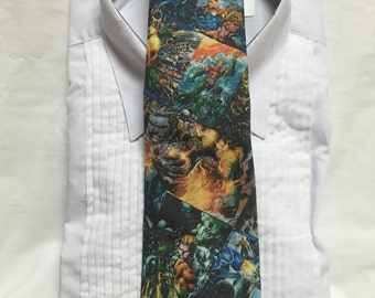 Underwater Hero print Tie-able Neck Tie