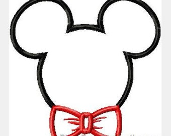 Boy Mouse with Bowtie Custom embroidered Disney Inspired Vacation Shirts for the Family! 792