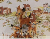 Vintage Deer Family of 5 Kitsch Bambi Babycham
