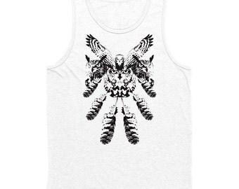 Owl Collage Men's Tank Top White