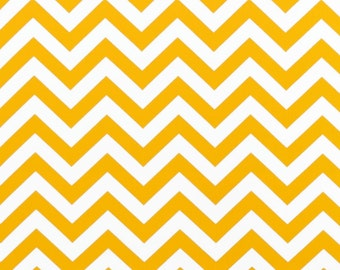 Zig Zag Chevron Corn Yellow Twill Decor Weight Fabric by the yard - Same Day Shipping