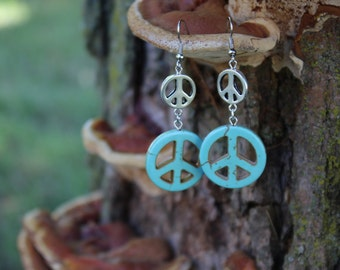 Turquoise Peace Out Earrings