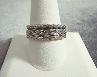 Sterling Silver Weave Spinner Band Ring Sz. 10 1/2  R44