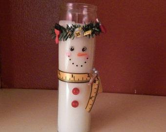 MISS DIY---handpainted jar candle