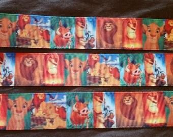 Lion King ribbon, Disney ribbon, simba and nala ribbon, lion ribbon, simba ribbon, nala ribbon, wholesale ribbon, grosgrain ribbon 3 yards