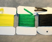 Fly Fishing Flies - Fly Tying Supplies - DeStash - Synthetic Dubbing 3 Pack - 2 yards each of Yellow, Green, and Black - Poly Yarn
